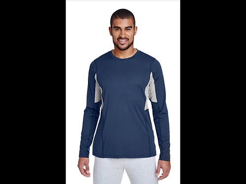 Navy Performance Warm-Up Shirt