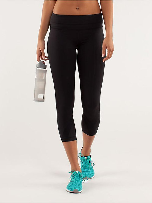 Black Cropped 7/8 Athletic Pants