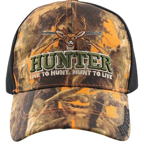 Hunter Baseball Cap Live to hunt, Hunt to live