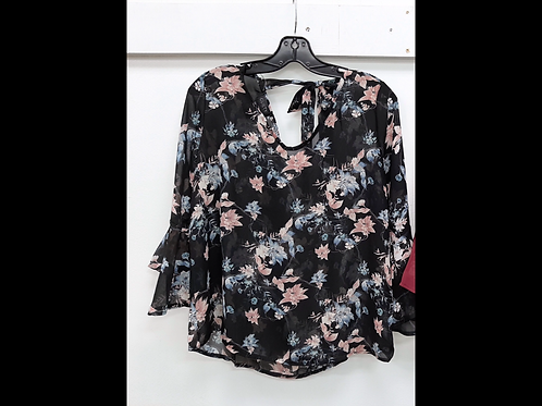 Sheer Blouse with Bell Sleeve