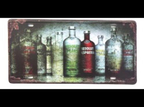 Decorative License Plate Vodka Bottles