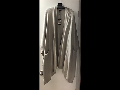 Oatmeal DKR & Company Oversized Cape with Pockets