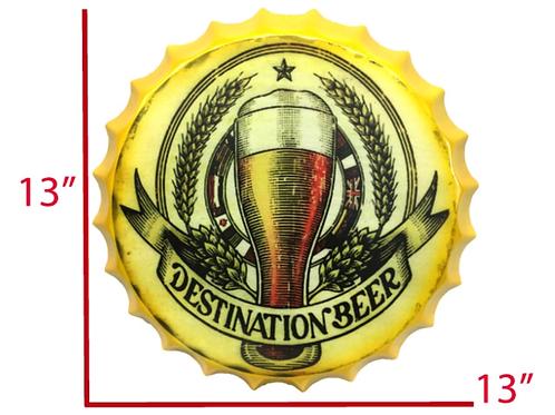 METAL BOTTLE CAP DESTINATION BEER