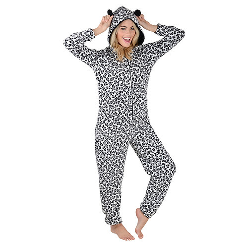 Ladies Fleece Onesie with Pockets