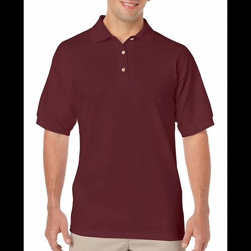 Maroon Gildan Polo Short Sleeve Jersey