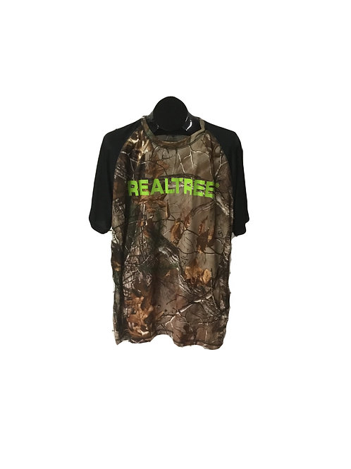 Trees Trails Short Sleeve Camouflage Top