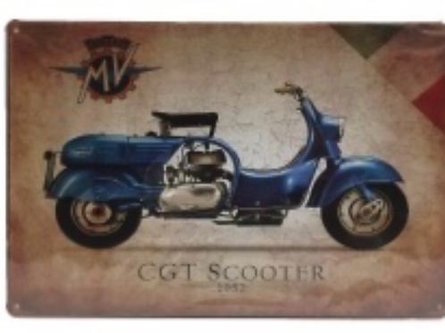 Decorative License Plate CGT Scooter 1952