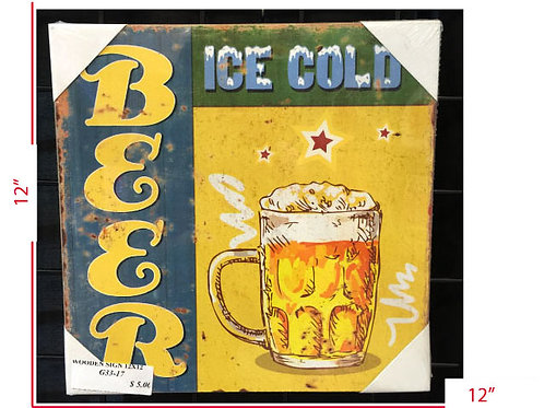 Wooden Sign Pain is Temporary Ice Cold Beer