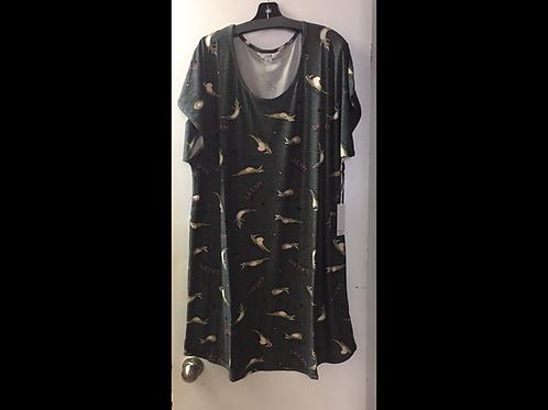 Full Figure Printed Night Shirt