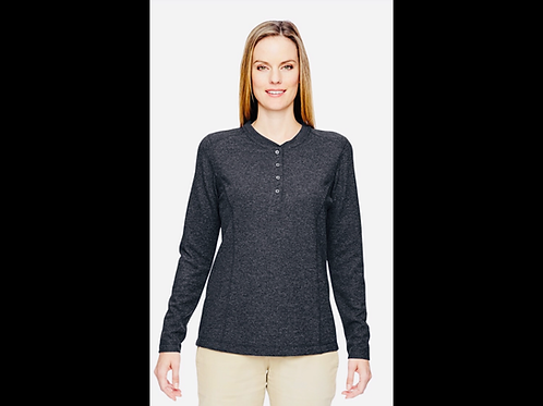 Ladies Performance Waffle Henley