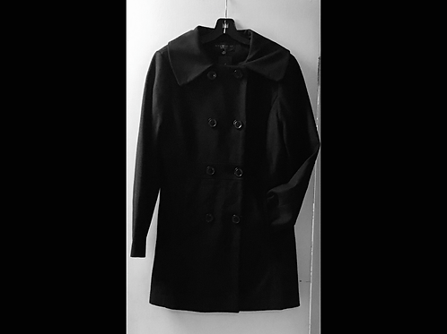 Black Studio 59 Fitted Wool Blend Peacoat