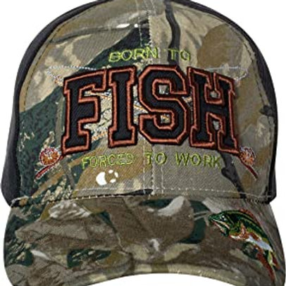 Born to Fish Forced to Work Baseball Cap