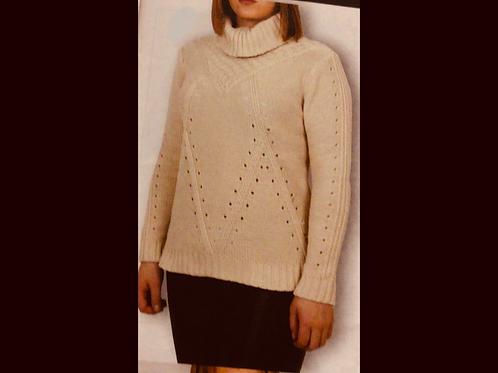 Blush DKR Apparel Knit Turtleneck Sweater
