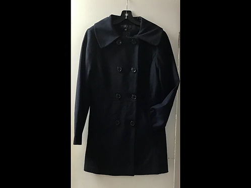 Navy Studio 59 Fitted Wool Blend Peacoat