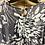 Thumbnail: Gray and White Double Ruffle Long Sleeve Top