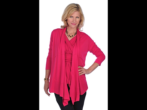 Open Cardigan with Raw Edging