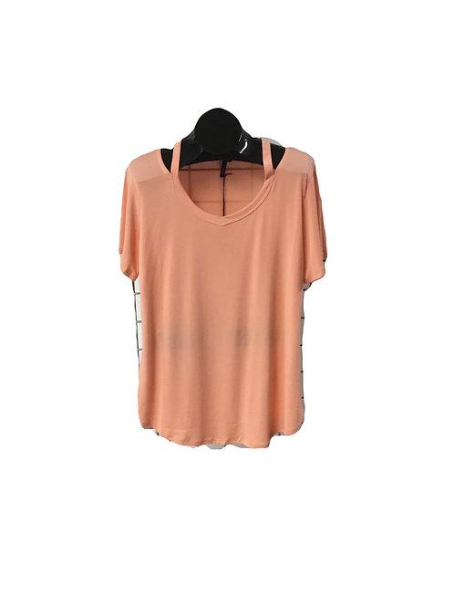 Full Figure V-Neck Short Sleeve Top