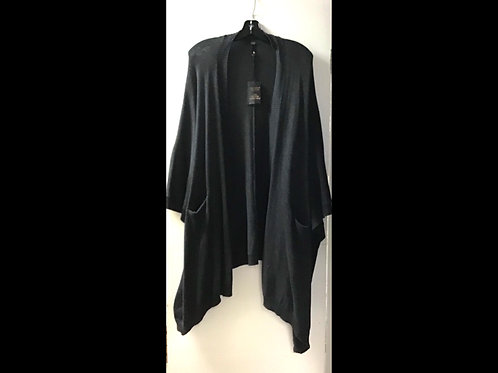 Charcoal DKR & Company Oversized Cape with Pockets