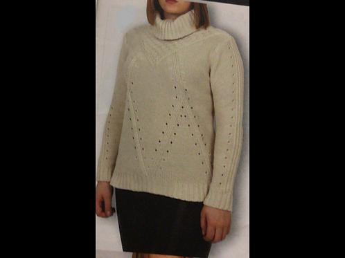 Oatmeal DKR Apparel Knit Turtleneck Sweater
