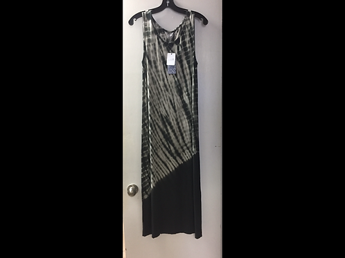Charcoal Tie Dye Midi Dress