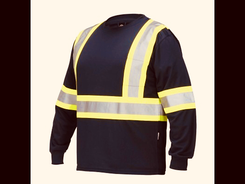 Black Forcefield Long Sleeve Safety Shirt