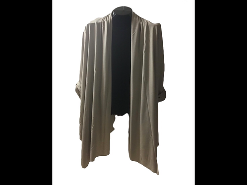 Open Cardigan with Convertible Sleeve
