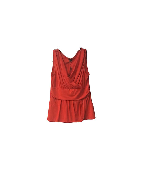 Crossover Tank Top with Band