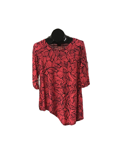 Full Figure 3/4 Sleeve Asymmetric Tunic