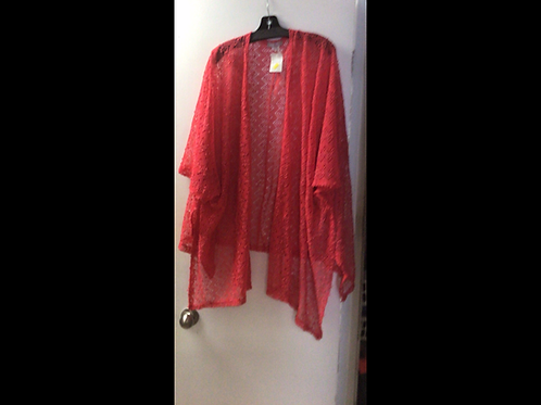 Crocheted Coverup-Coral