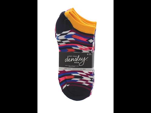 Ladies 6PK No Show Ankle Socks
