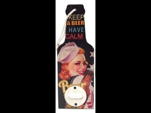 Wooden Bottle Opener Keep A Beer Have Calm
