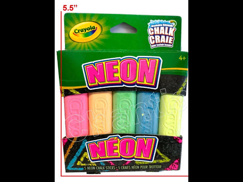 Washable Sidewalk Chalk - NEON