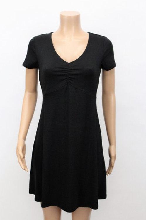 Short Sleeve V-Neck Dress