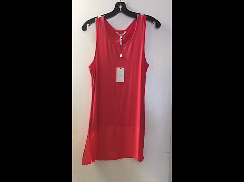 Coral Tank Top with Chiffon Bottom