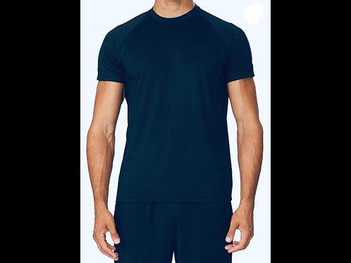 Navy Qwick Dry Crewneck T-Shirt