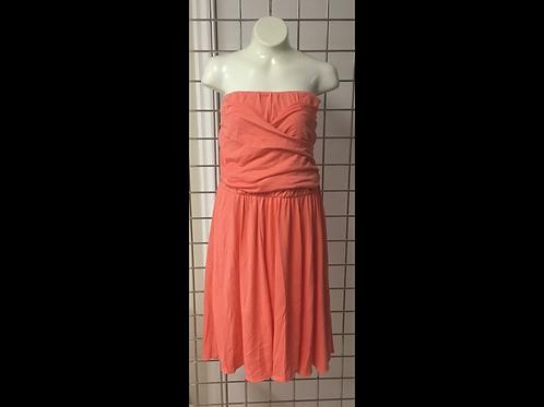 Tangerine Strapless Dress