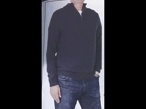 Navy Men's 1/4 Zip Sweater