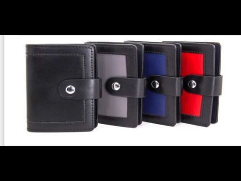 Red Card Holder with Snap Closure