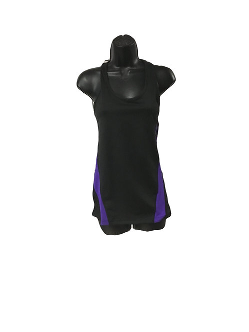 Purple/Black Athletic Yoga Tank