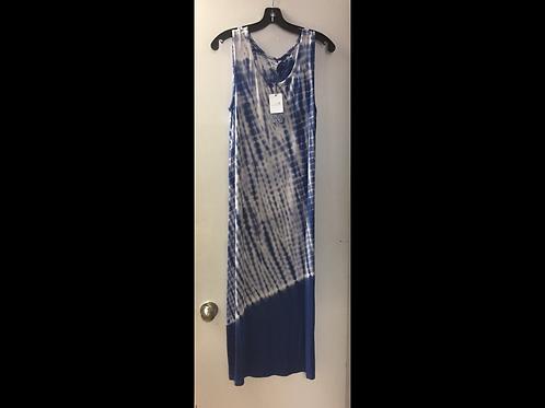Royal Tie Dye Midi Dress