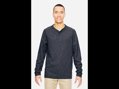 Gray/Navy Mix Men's Performance Waffle Henley