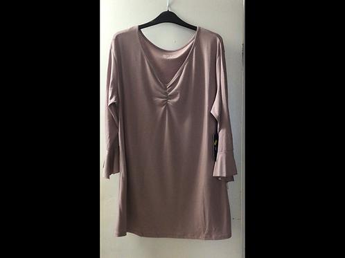 Full Figure 3/4 Bell Sleeve Tunic Top