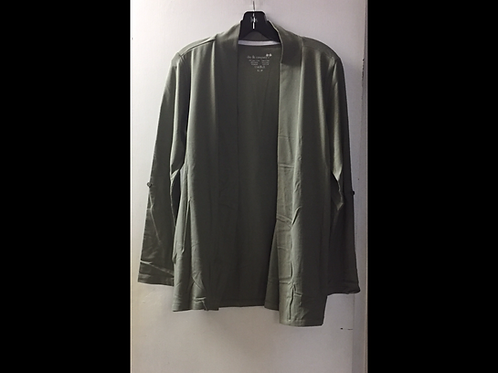 Roll-Up Sleeve Open Cardigan with Pockets