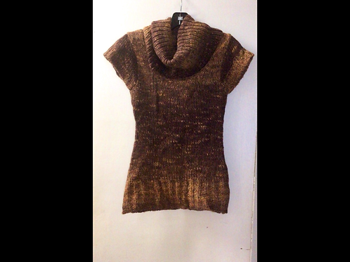 Philip Russell Short Sleeve Knit Cowlneck Sweater