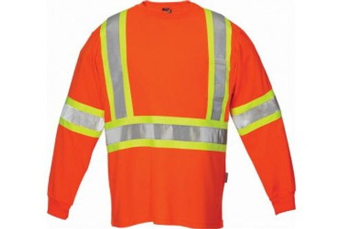 Orange Forcefield Long Sleeve Safety Shirt