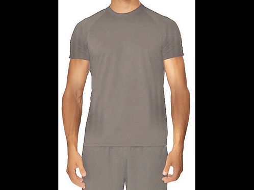 Pewter Qwick Dry Crewneck T-Shirt