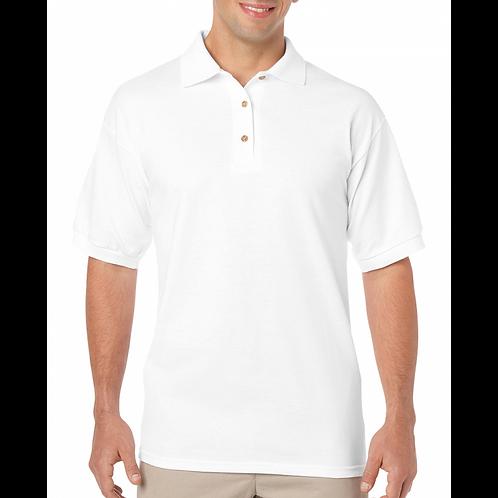 White Gildan Polo Short Sleeve Jersey