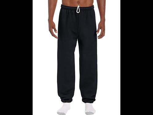 Black Gildan Elastic Bottom Sweatpants