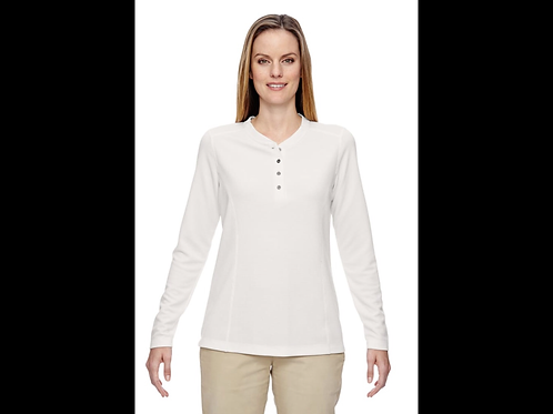 Crystal Quartz Ladies Performance Waffle Henley