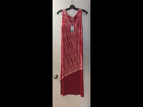 Red Tie Dye Midi Dress
